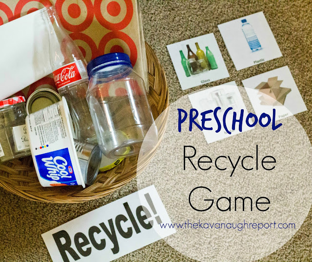This Montessori inspired game helps children learn about recycling by sorting real objects. This opens up an opportunity to learn about different materials and how to help the Earth.