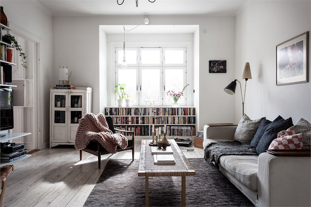 A Light and Bright Scandinavian Apartment- design addict mom