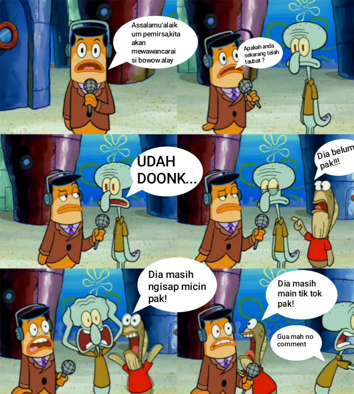 Cara membuat meme spongebob
