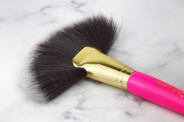 Technic Cosmetics Makeup Brushes Pro Large Fan Brush, Pro Fan Brush, Pro Flat Edge Brush Pink Lovelaughslipstick Blog