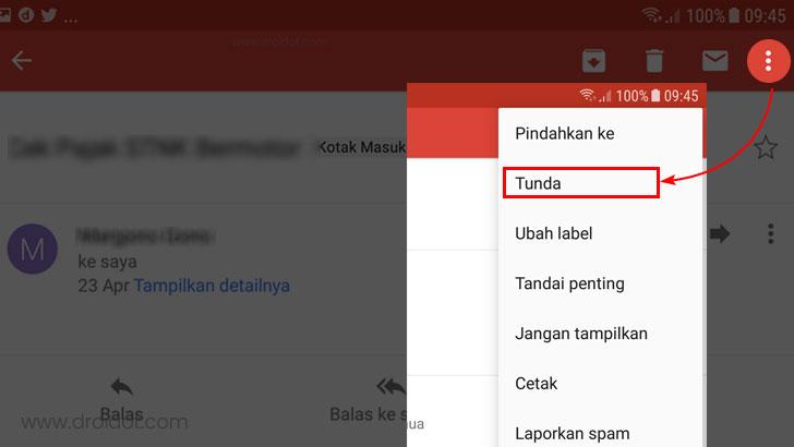 Cara menggunakan fitur tunda gmail - Snooze feature