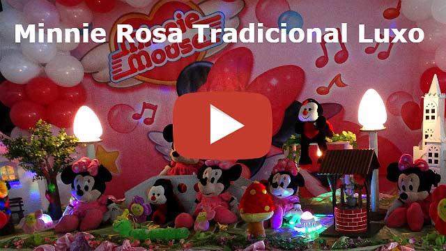 Vídeo decoração de festa Minnie Rosa