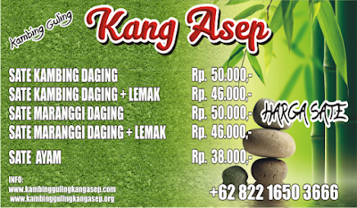 Harga Sate Kang Asep