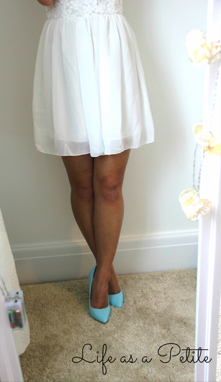 Outfit Idea: Chiffon White Dress - Life as a Petite