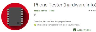 Aplikasi Phone Tester Untuk Melihat Apakah HP kita punya IR Blaster