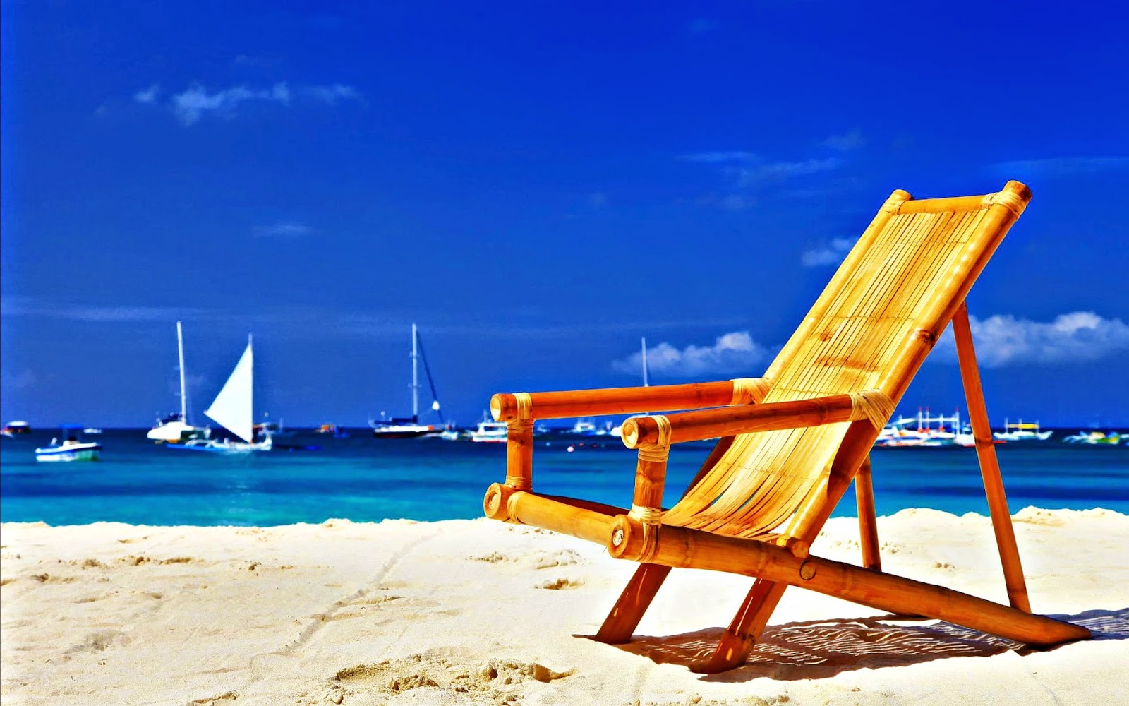 Summerbeach chair wallpapers HD  Desktop Wallpapers free