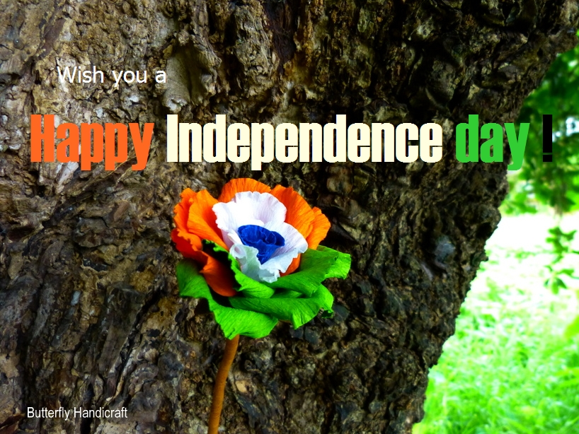 Craft For Flag Of India: Butterfly Handicrafts: Wish You A Happy Independence Day
