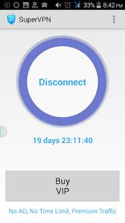 Cara Mengakses Reddit melalui Ponsel HP Suver VpN Connected