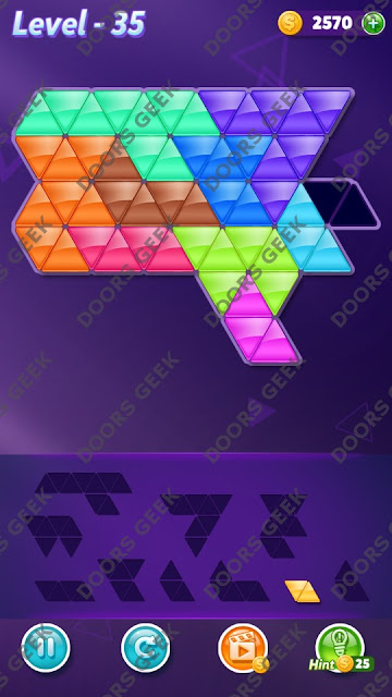 Block! Triangle Puzzle Master Level 35 Solution, Cheats, Walkthrough for Android, iPhone, iPad and iPod