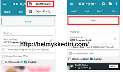 1. Internet gratis dengan http injector