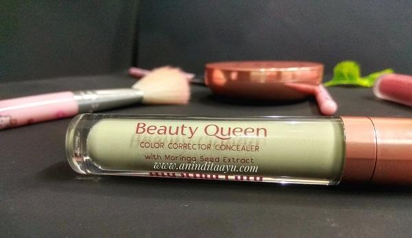 mustika ratu beauty queen color corrector concealer green