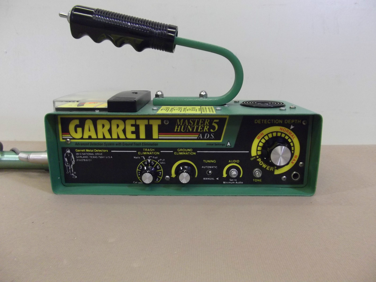 Hunter Detector Garrett Metal Master Vintage Vlf Tr