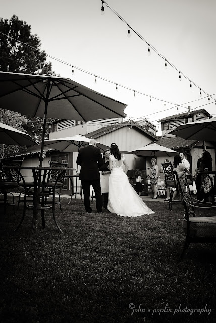 A bride and groom at The Briarwood Inn in Colorado on their wedding day
