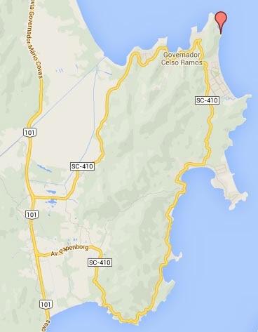 mapa governador celso ramos gobernador