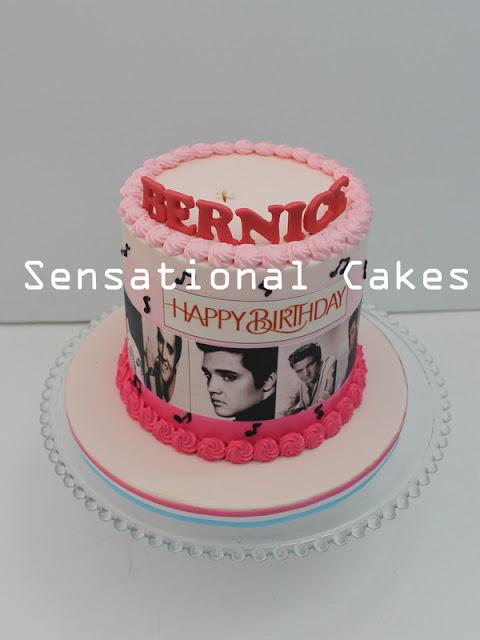 birthday cake pink rosette cake Singapore