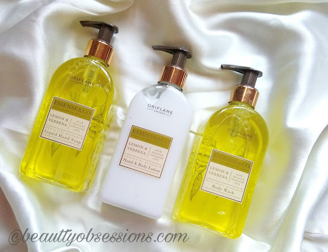 Oriflame Essence & Co.  Lemon And Verbena Range - Review