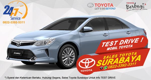 Info Test Drive Toyota Camry Hybrid Surabaya