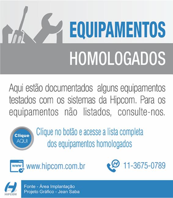 equipamentos homologados hipcom