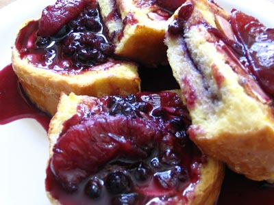 Blueberry-Stuffed French Toast with Blueberry-Orange Sauce