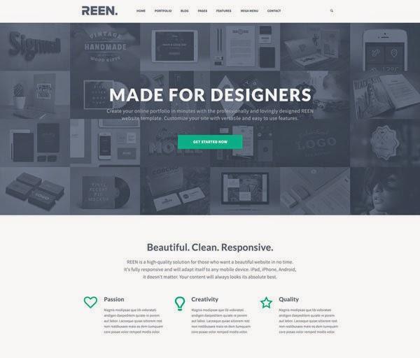 REEN Creative Portfolio Template PSD