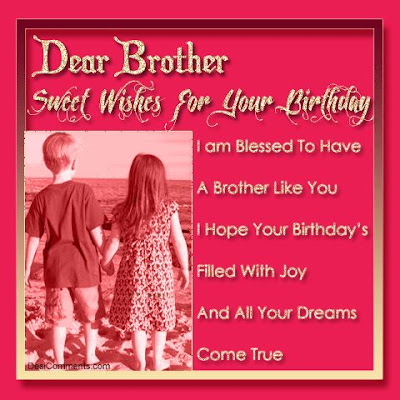 Happy Birthday wishes for brother: i am blessed to have a brother like you i hope your birthday's filled with joy