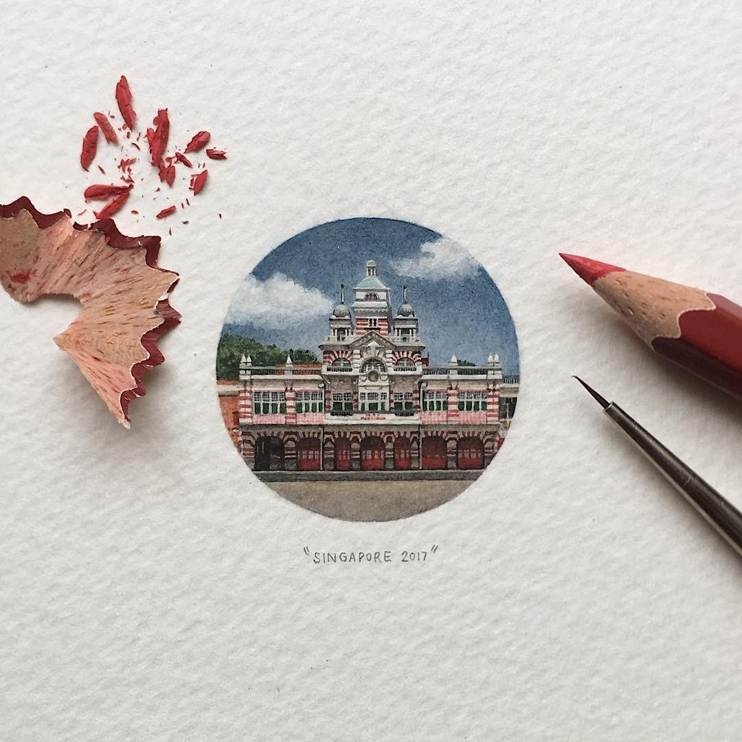 06-Central-Fire-Station-Loots-Tiny-Miniature-Mixed-Media-Animals-and-Architecture-www-designstack-co