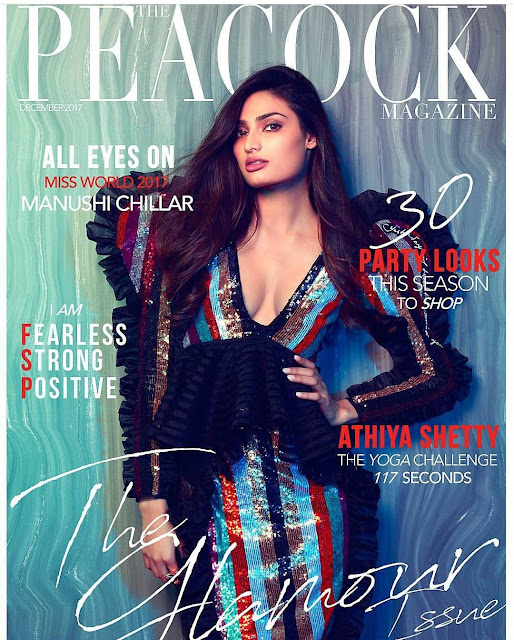 Athiya Shetty Covers the Peacock Magazine Dec 2017 Issue