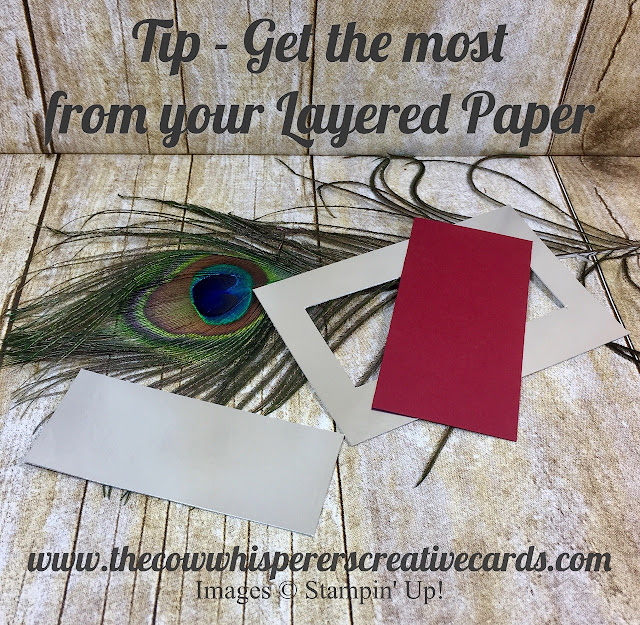 Tip, Layered Paper, Saving Money, Stampin Up, Card Tip