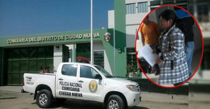 Policía de Tacna detiene a madre que golpeó a su hijo por no hacer la tarea