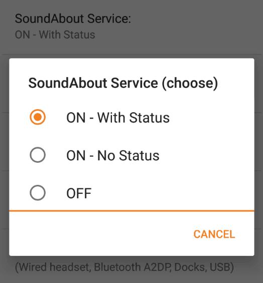 Mengaktifkan SoundAbout