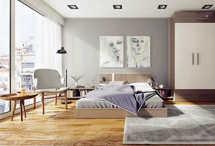 cuarto con cama baja