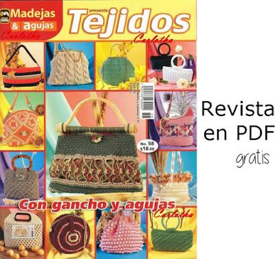 Revista de tejidos: 21 patrones de bolsos tejidos