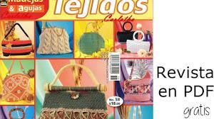 Revista de tejido en pdf / 21 modelos de bolsos para tejer
