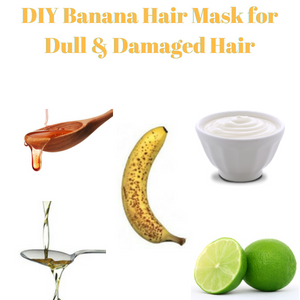 DIY Banana Hair Mask for Dull & Damaged Hair