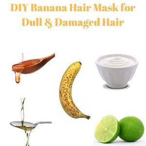 DIY Banana Hair Mask for Dull & Damaged Hair