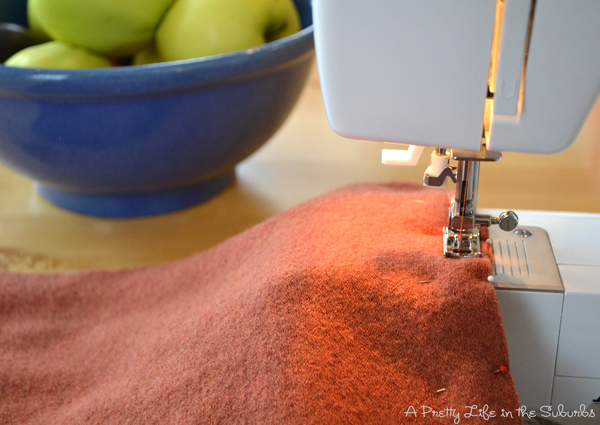 How to Make a Fall Wool Sweater Pillow