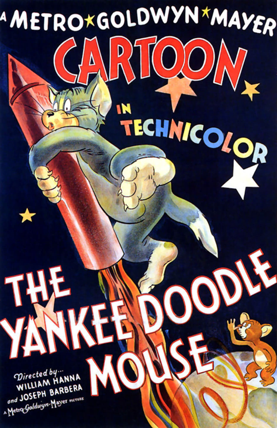 Tom and Jerry, first Oscar 1943: The Yankee Doodle Mouse