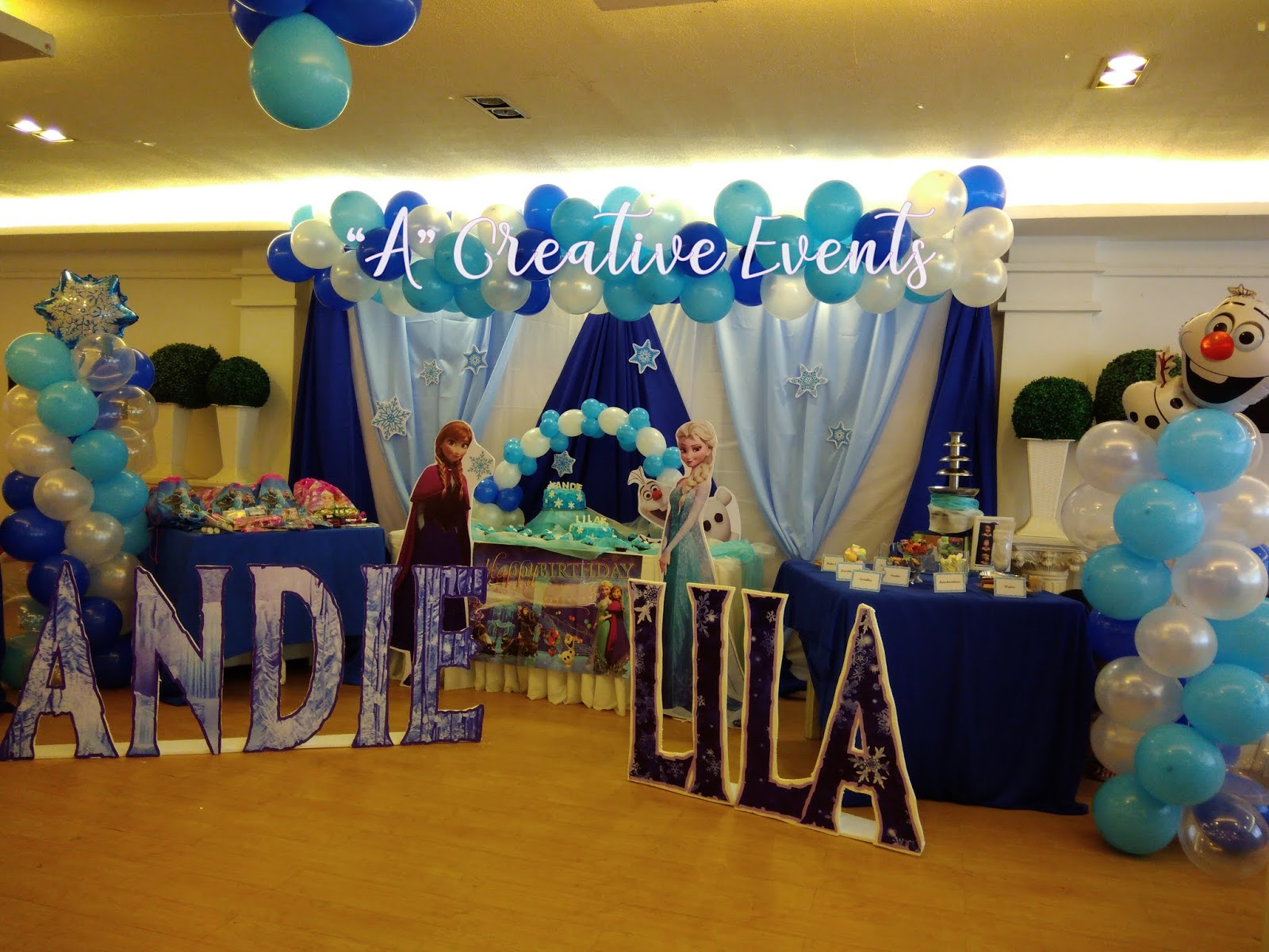Andie and Lila's Frozen Themed Party Standee - Davao City