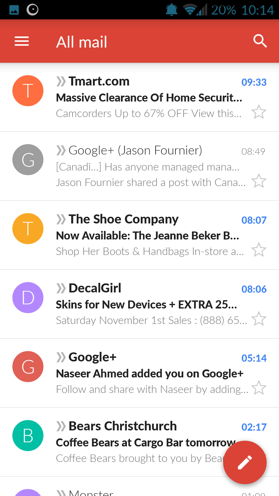 GMail 5 0 and Exchange lighting up the internet on FIRE
