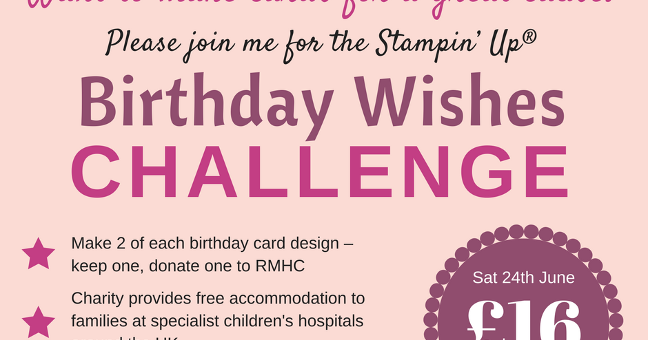 All Things Stampy Please Join Me For The Birthday Wishes Challenge