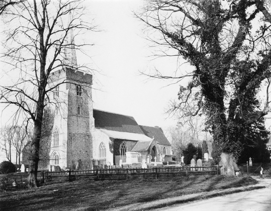 Photograph of St. Mary's church from the south-west. Photograph by Geo.Knott. 1896.
