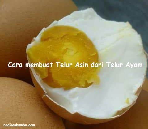 Cara membuat Telur Asin dari Telur Ayam Hasilnya sama