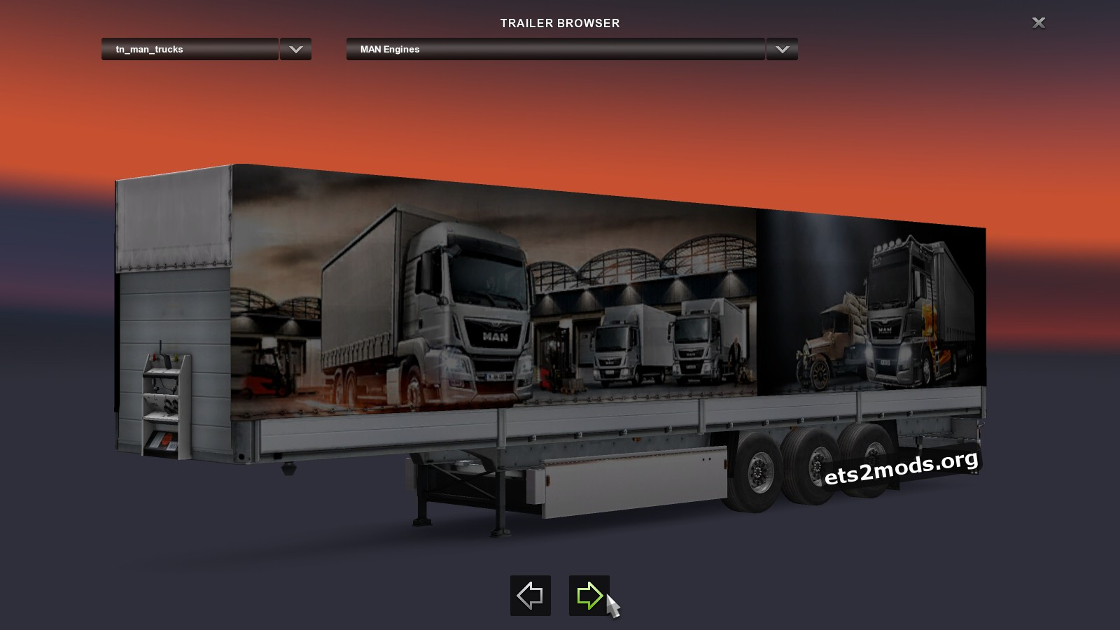 Standalone MAN Trucks Trailer
