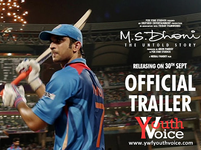 M.S.Dhoni - The Untold Story - Official Trailer featuring Sushant Singh Rajput cover wallpaper full HD