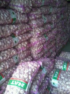 harga jual bawang putih di Sulawesi