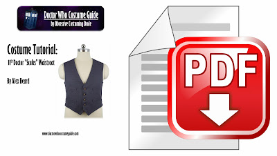 "11th Doctor ""scales"" waistcoat tutorial PDF"