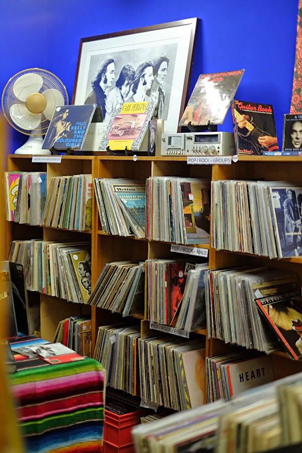 LP Records - those round flat thin black things with grooves - and collectable too. Check out those covers!