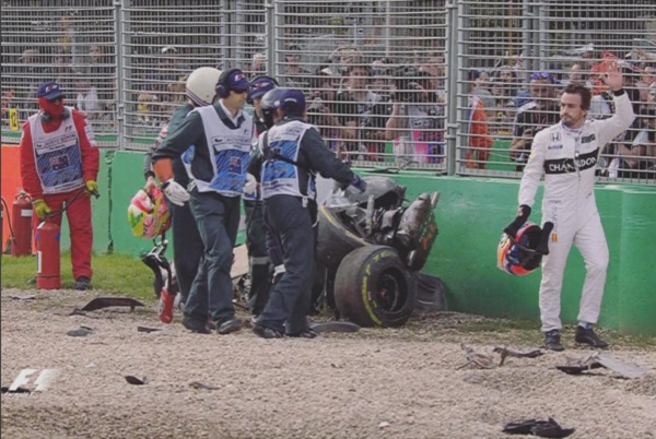 Accidente Fernando Alonso