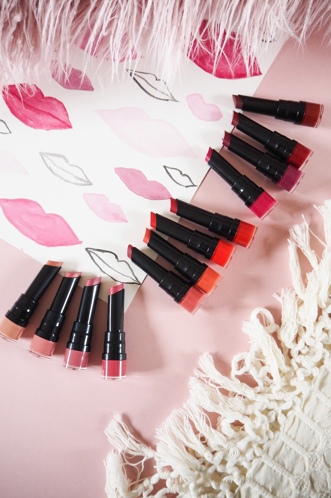12 colours of the Bourjois Rouge Velvet The Lipstick