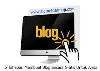 5 Tahapan Membuat Blog Secara Gratis Untuk Anda